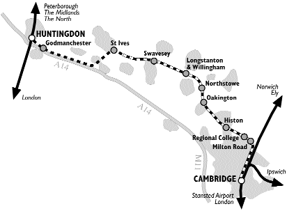Cambridge Trains Map