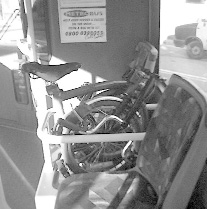 Brompton on a bus