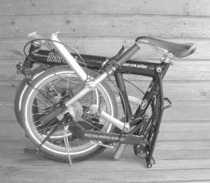 Birdy Black Folding Bike Folded