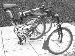 Brompton SP Trike folded
