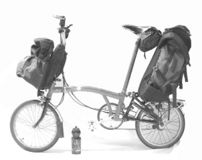 Brompton with luggage