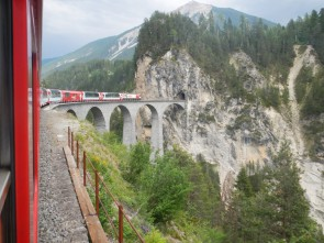 Railways through mountains - the Glacier Express