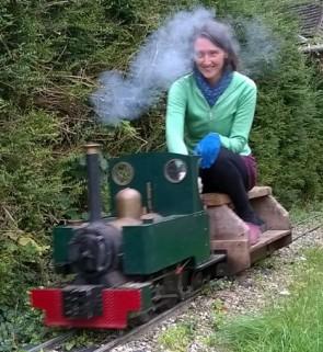 Jane Henshaw driving Maxitrak Opal