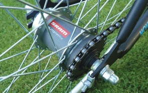 At the heart of the Momentum concept is SRAM's new Automatix hub. It works well and should find many applications