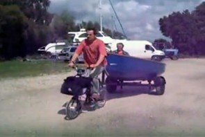 A to B Transport Videos - Brompton towing a boat
